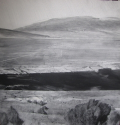 Lane Hall, Rio Grande Near Taos IV, Graphite and Gesso on Board (Contact for Purchase)