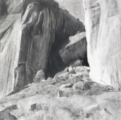 Lane Hall, Smith Rock State Park, Graphite and Gesso on Board (Contact for Purchase)