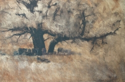 Lane-Hall-Shelter-In-Sepia-24x36-oil-3300-Contact-for-Purchase