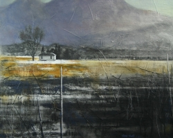 Lane Hall, Valley Shadows, Oil and Graphite on Linen, (Contact for Purchase)