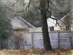 Lane Hall, Almost Winter, Watercolor (Sold)