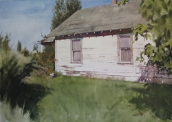 Lane Hall, Childhood III, Watercolor (Sold)