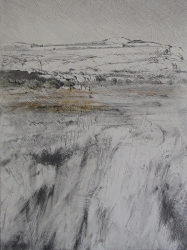 Lane Hall, Distant Shadows, Mixed Media (Sold)