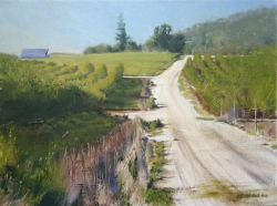 Lane Hall, Fruitfull Road, Oil on Canvas (Sold)
