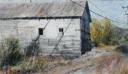 Lane Hall, Lonely Place II, Water Media (Sold)