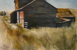 Lane Hall, Near Carlton, Watercolor (Sold)