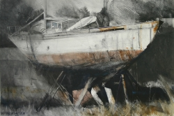 Lane Hall, Retired, Water Media (Sold)