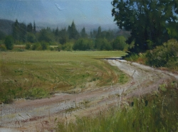 Lane Hall, Road At Millers II, Oil on Canvas (Sold)
