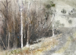 Lane Hall, Road To The Past II, Watercolor (Sold)