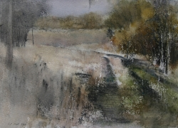 Lane Hall, Road To The Past, Watercolor (Sold)