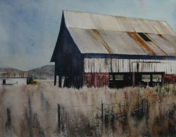 Lane Hall, Remnants II, Watercolor (Sold)