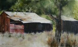 Lane Hall, Remnants, Watercolor (Sold)