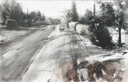 Lane Hall, Road To The Past III, Watercolor (Contact for Purchase)
