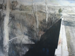 Lane Hall, Crossing Over, water media (Contact for Purchase)