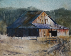 Lane-Hall-Evening-8x10-watercolor-800-Contact-for-Purchase