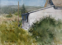 Lane_Hall_Remaining_Past_II_11x14_watercolor_1200_Contact_for_Purchase